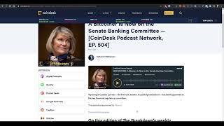 A BITCOINER Appointed to Senate Banking Committee   UNISTAKE on Fire   BTC & ETH Dropping