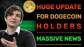 DOGECOIN HOLDERS HAVE TO BE READY AFTER WHAT ROBINHOOD CEO DID TODAY! | DOGECOIN NEWS