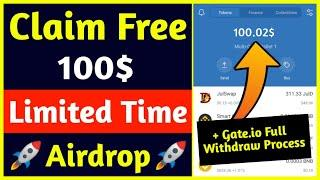 Get Free 100$ | New Crypto Airdrop 2021 | Gate.io Live Withdrawal Process | Rabbit Finance Airdrop |