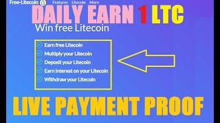 Free Earn Litecoin | Faucet Claim Upto 0.98 Every Hour | Multiply Litecoin | Live Payment Proof