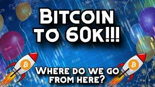 Bitcoin to 60k! Where are we going from here?! Crypto ETF (BTC) + SEC + Cryptocurrency News!