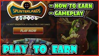 FREE PLAY TO EARN CRYPTO SPLINTERLANDS GAMEPLAY - BEST NFT GAME - BLOCKCHAIN GAMES GOOD GRAPHICS