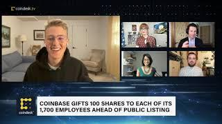 Coinbase Gifts 100 Shares Each to 1,700 Employees Ahead of Public Listing | The Hash - CoinDesk TV