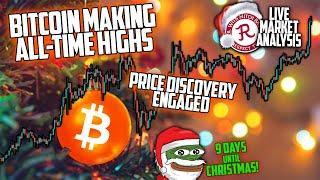 BITCOIN LIVE : BTC ALL TIME HIGHS!! PRICE DISCOVERY