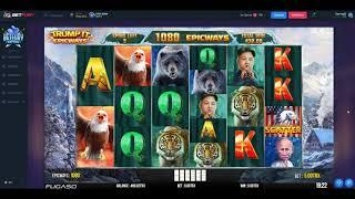 The Donald Trump Slot Machine - Buying Free Spins For 500 TRX - Winning 2000 TRX!