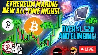 BITCOIN LIVE : ETHEREUM (ETH) ALL TIME HIGHS! GME REKT