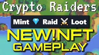 CRYPTO RAIDERS  - NEW NFT GAME! FIRST DUNGEON! RISKY GAME! BLOCKCHAIN GAME!