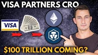 HUGE CRYPTO NEWS! VISA PARTNERS WITH CRO + Settles on ETH! DeFi 50% APY! $100 Trillion Coming?!