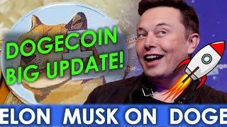 Doge Urgent Update! Elon Musk supports Doge Upgrades | Dogecoin technical Analysis | Crypto news