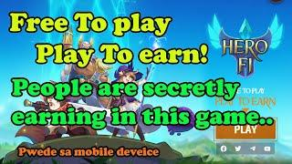 HEROFI THE ONLY NFT GAME HAS NO INFLATION | FREE TO PLAY AND PLAY TO EARN | USER FREINDLY NFT GAME