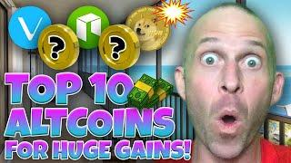 TOP 10 ALTCOINS TO BUY RIGHT NOW TO BE A RICH MILLIONAIRE!!!!! BUY THE DIP!! [exact price targets..]