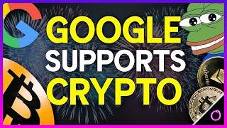Marvelous News Google is now supporting crypto