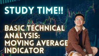 [STUDY TIME!! T/A TUTORIAL] BASIC : INDICATOR   MOVING AVERAGE   SIMPLE VS EXPONENTIAL