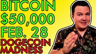 BITCOIN PRICE $50,000 BY FEBRUARY 28th! ELON MUSK'S DOGECOIN DANGER! Daily Crypto News 2021