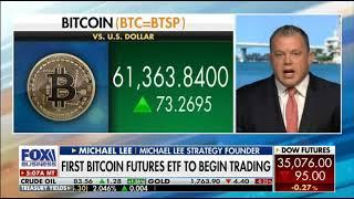Michael Lee on Fox Business Mornings with Maria discussing Bitcoin and new ETF Approval