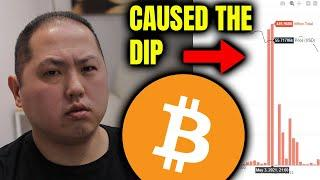 BITCOIN DIP CAUSED BY THIS EXCHANGE