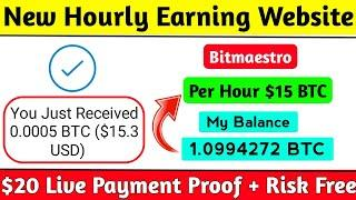 New Bitcoin Earning Website | Live $20 Payment Proof | 180% After 1 Day| Bitmaestro.cc Payment Proof