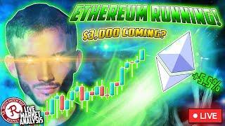 BITCOIN LIVE : ETH NEARING $3000! ALTCOINS GONE WILD!