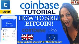 How to Sell Bitcoin with Coinbase & Coinbase Pro Exchange
