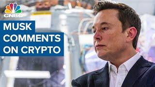 Here's what Tesla CEO Elon Musk said about crypto that drove up bitcoin, ethereum