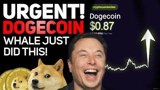 DOGECOIN EMERGENCY HUGE DOGECOIN WHALE MOVEMENT! ELON MUSK WALLET JUST DID THIS!