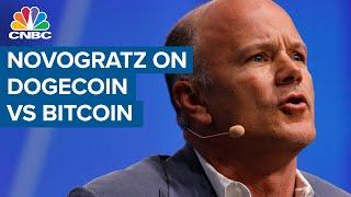 Mike Novogratz explains the difference between dogecoin and bitcoin