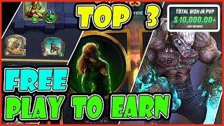 FREE PLAY TO EARN CRYPTO TOP 3 - BEST NFT GAME - BLOCKCHAIN GAMES FOR PC WINDOWS AND MOBILE VERSION