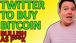 BREAKING BITCOIN NEWS!!! TWITTER TO BUY BTC! MASTERCARD INTEGRATES CRYPTO! [Bullish AF]