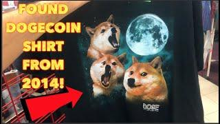 I Found A DOGECOIN Shirt FROM 2014!! Thrifting + Selling Sneakers Locally For Cash!
