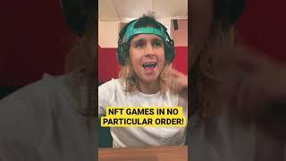 TOP NFT GAMES IN NO PARTICULAR ORDER! NFT GAMES, BLOCKCHAIN GAMES, PLAY TO EARN GAMES.
