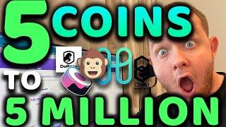 5 COINS TO 5 MILLION!!!!!!!! UNDERVALUED COINS SET TO EXPLODE IN SEPTEMBER 100X!!!!!!!!!!