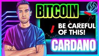 Bitcoin MASSIVELY Important Right now. Cardano Price Being Tested.