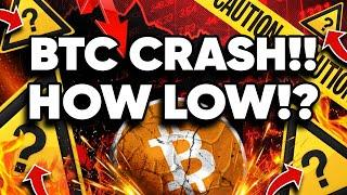 How Low Will BITCOIN GO!? We WARNED of This Crash!!